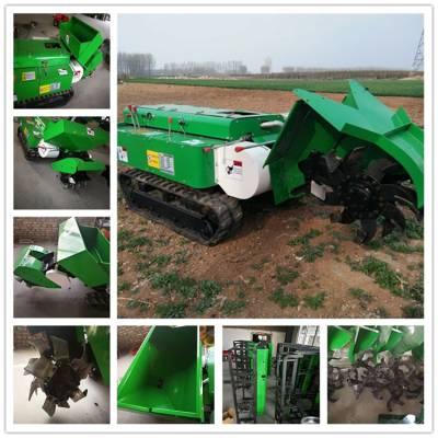 履带式田园管理机 润华 大棚开沟施肥机 园林树木施肥机