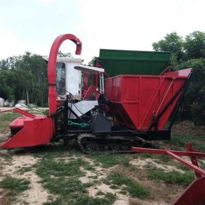 新一代履带式秸秆粉碎收获机 玉米秸秆收割青储机 青饲料收集机