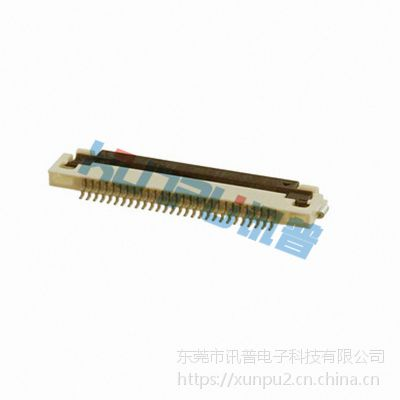 0.3mm间距卧式翻盖FPC插座0.3S-EX-NPFG
