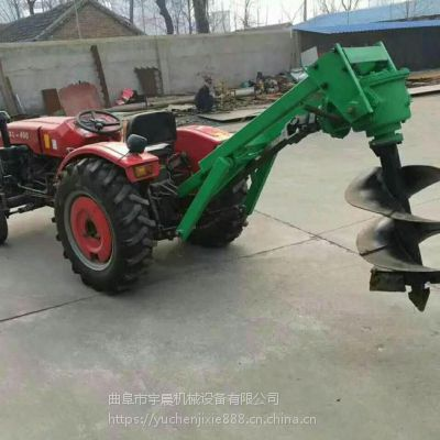 大直径打洞挖坑机 拖拉机带动挖坑机 宇晨拖拉机后置植树打坑