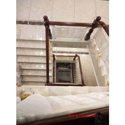 卢龙欧式楼梯扶手厂家 大量铝艺新型栏杆艺术家装