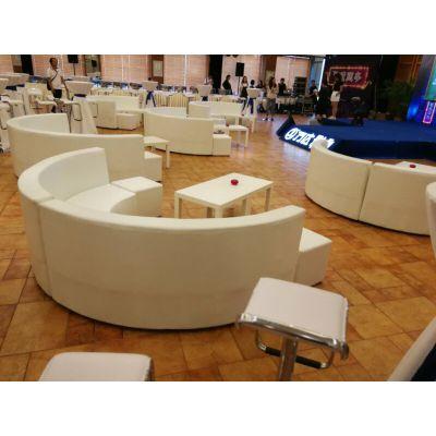 北京沙发卡座出租 白色沙发墩 多款茶几租赁