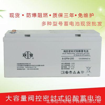 双登免维护蓄电池6-GFM-200 12V200AH UPS电源船舶 太阳能专用