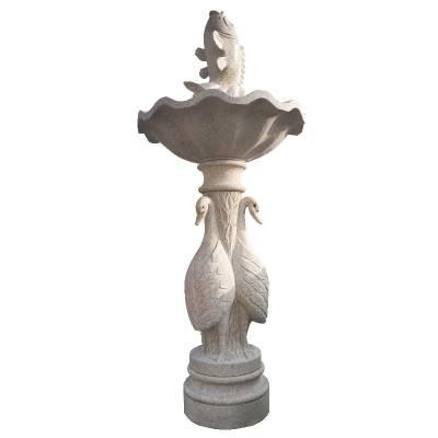 石雕喷泉欧式小区造景水钵花岗岩大型喷泉石雕风水球流水摆件定做
