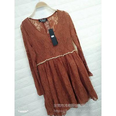 广东工厂尾单清仓处理女士长袖连衣裙便宜清仓处理低至三元一条