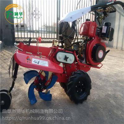 轻松翻地开沟机 小机型柴油开沟机 能带铺膜机的松土机