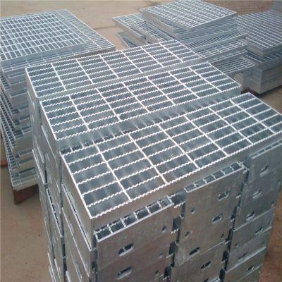 楼梯踏步板厂家 平台钢格板生产 地沟盖板