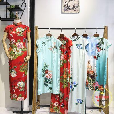 娣婷杜鹃花连衣裙高端尾货广州夏季女装折扣店进货渠道新款组货包
