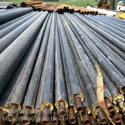 鼎固供暖管道采用整体式发泡聚氨酯保温管施工