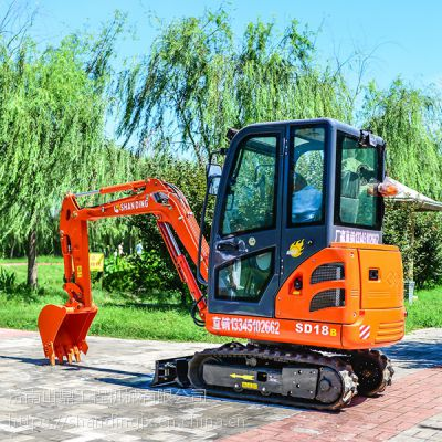 【开挖自来水管道】全新的18山鼎小型挖掘机价格表