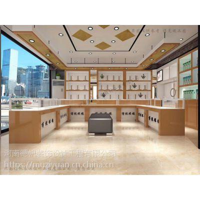 河池眼镜店装修公司 河池眼镜店展柜设计制作 河池眼镜柜台生产厂家