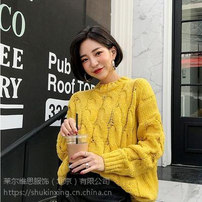 帕佳妮杭州九堡尾货服装批发市场怎么走折扣 时尚品牌女装批发网尾货红色毛衣