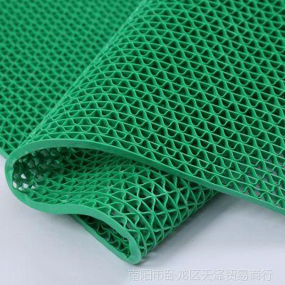 PVC网格防滑地垫卫生间浴室食堂脚垫酒店过道游泳池隔水塑料地毯