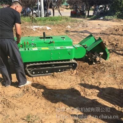 湖南果园履带自走式开沟机 可旋耕除草施肥回填一体机 低矮柴油开沟机