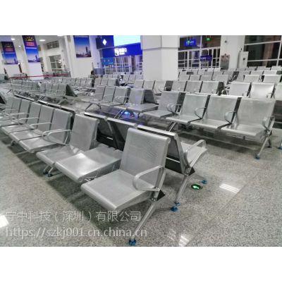SZ001带茶几的不锈钢排椅-带茶几机场椅-两人位配一茶几等候椅