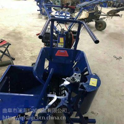 小型高低可调节掰棒子机 耐用节能玉米收获机设备厂家 澜海制造
