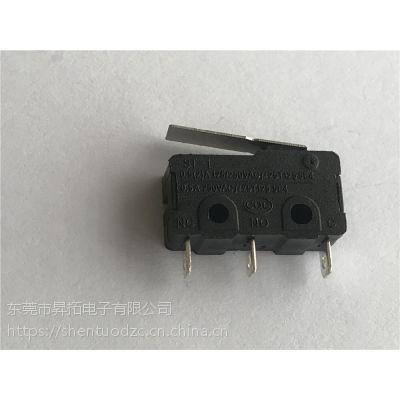 深圳厂家热销3脚微动开关带直柄 ST-1微动小型 货源充足 免费试样