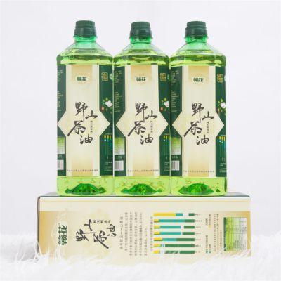 批发纯有机山茶籽油1.15L×3瓶装 一级压榨茶油食用油 母婴月子油
