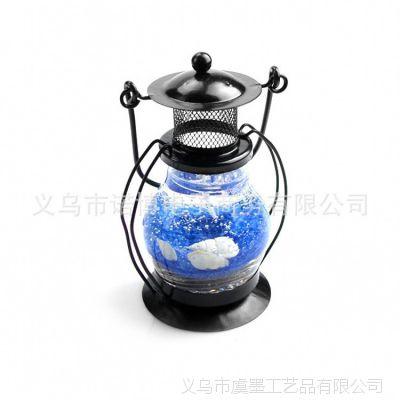 创意蜡艺马灯  果冻蜡烛台 复古手提烛台 金属马灯摆件 工厂直销