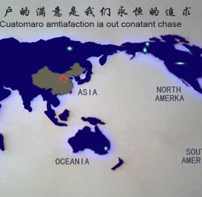 公司大厅形象墙装饰 KXDZ001世贸网点分布显示世界地图屏