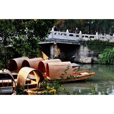 定做木船 古镇仿古乌篷船 婚纱摄影道具船 酒店景观装饰渔船