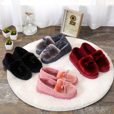 冬季全包跟保暖月子棉鞋棉靴室内外防滑厚底雪地靴毛毛棉拖鞋厂