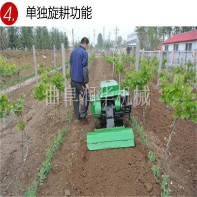 一机五用的开沟施肥机 润华 自走式田园管理机 电启动开沟回填机