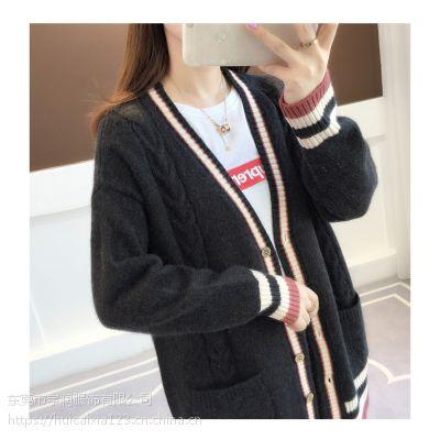 中山女式羊毛衫代价清仓韩版流行时尚库存女装毛衣批发