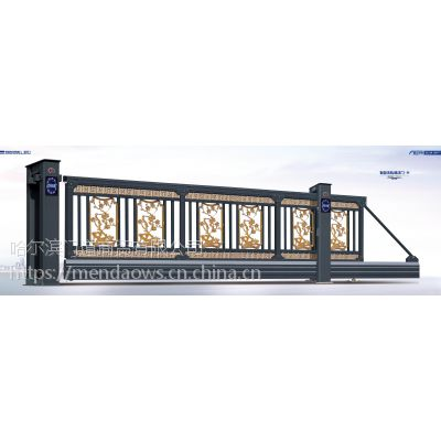哈尔滨门道无轨悬浮门,超大底梁运行平稳,现代与古曲结合