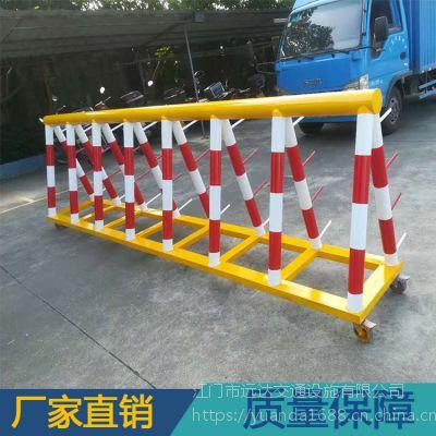 广东移动拒马护栏 道路交通安全防撞拒马 2.0厚钢管
