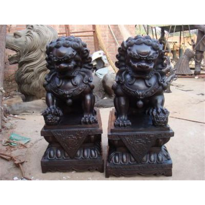 抚顺汇丰铜狮子雕塑价格-博轩雕塑