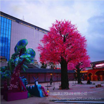 广场粉色樱花树 人造假樱花树 广州仿真树出租