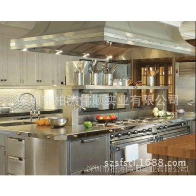 高档次的别墅不锈钢厨柜,厨房不锈钢家具  欢迎订购