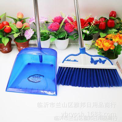 一件代发扫把簸箕套装 可靠耐用家用塑料扫把  铁杆连铲扫批发