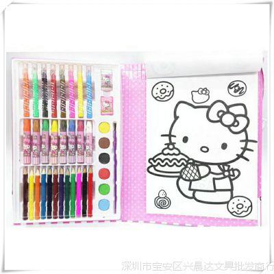 韩版儿童绘画文具套装幼儿卡通画笔宝宝描绘水彩笔蜡笔涂色礼盒批