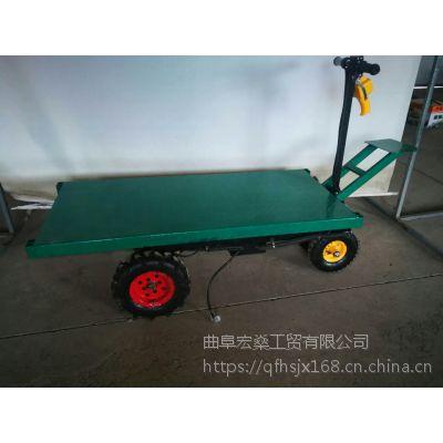 小型电动手推搬货运输机 运输车可升降型电动手推车