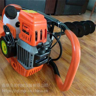 克拉玛依电线杆汽油挖坑机 山药种植打眼机 拖拉机带挖坑机