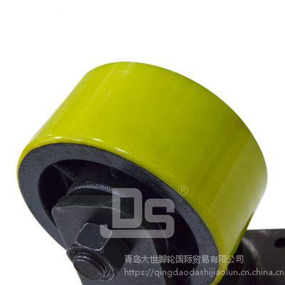 大世脚轮 多尺寸平顶聚氨酯脚轮 碳钢支架 结实耐用 超高载重