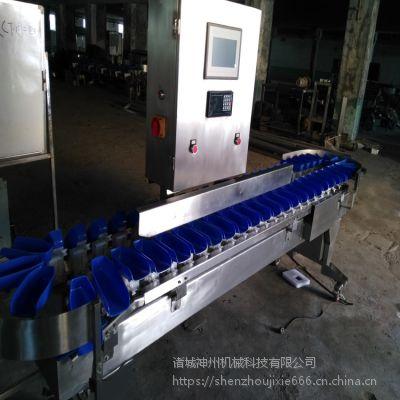 诸城神州机械供应重量分选机 皮带式海鲜重量分级机