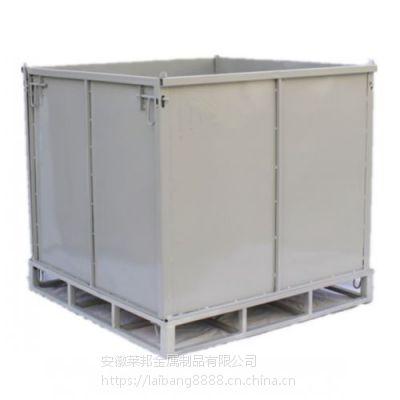 铁皮箱固定物流台车周转箱笼铁框大铁笼蝴蝶笼仓库储物