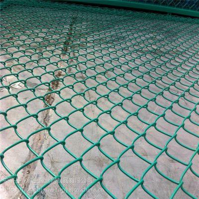 勾花防护网 绿色包塑护栏网 北京体育场围栏网