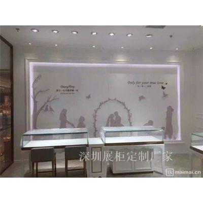珠宝展示柜钻石首饰珠宝展柜定做设计木制烤漆展示柜
