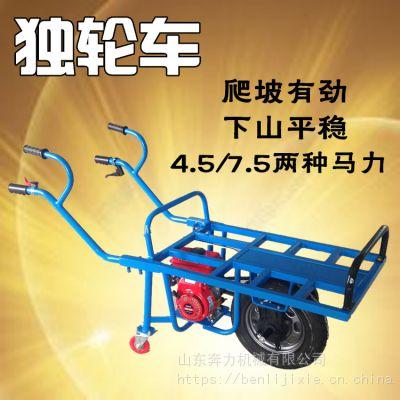 农用带刹车手推车 上山运化肥单轮车 奔力DL-BO3