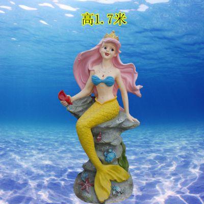 玻璃钢户外海洋动物雕塑美人鱼雕像树脂仿真摆件