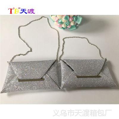韩式斜挎手拿手抓手提链子手机零钱收纳晚宴包女包时装化妆包
