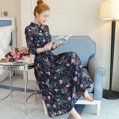 时装女服装货源野麦优雅连衣裙【一手货源】