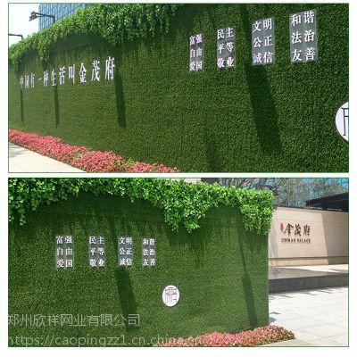 新郑2公分工程围挡价格 人造草坪户外广告绿植墙现货