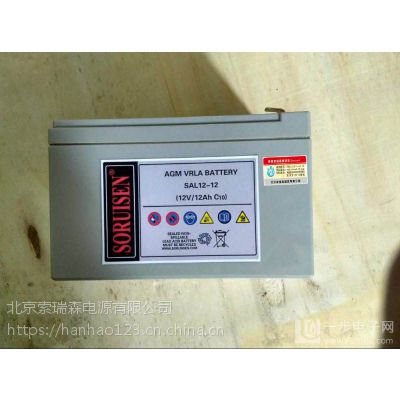 索瑞森蓄电池SAL12V17AH 美国SORUISEN 厂家授权代理商