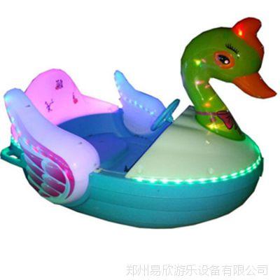 新款儿童手摇船电瓶船户外亲子双人水上游乐船母子船碰碰船