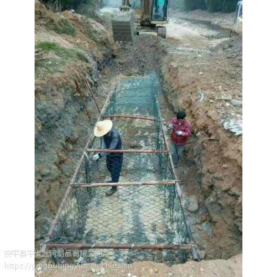 雷诺护垫六角护坡施工 定做河道锌铝合金覆塑石笼网厂家
